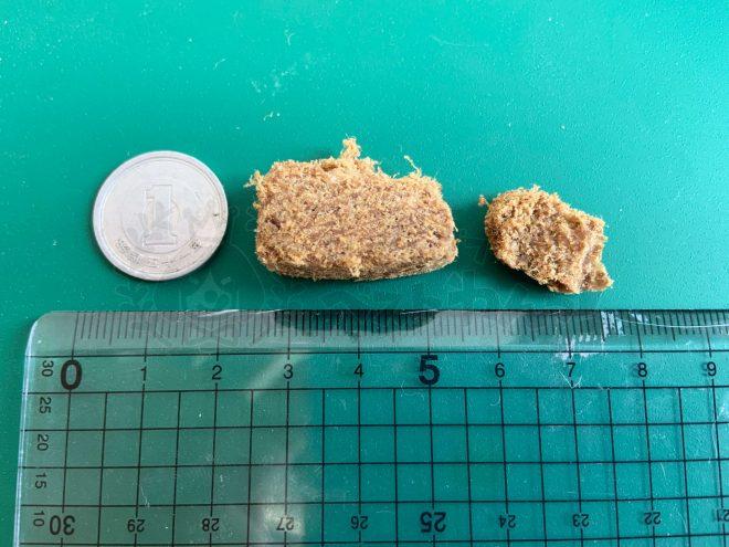 モグキューブドッグフードの粒の大きさ