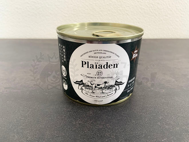 プレイアーデンドッグフードのパッケージ